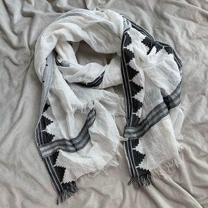 J Crew scarf black and white